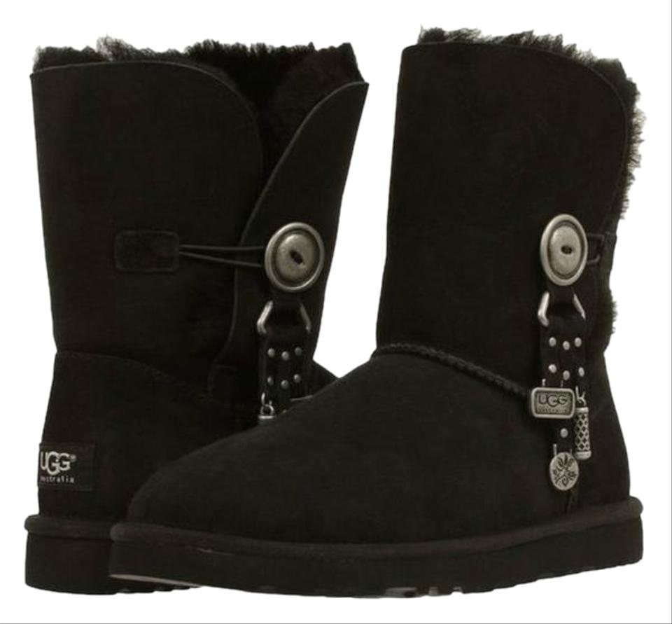 a1b32222 UGG Australia Black Suede Azalea Usa 6.5 Uk Boots/Booties Size US 8 ...