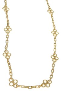 Tory Burch TORY BURCH Large Clover Gold Tone Necklace