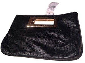 Michael Kors Leather Gold New Black Clutch