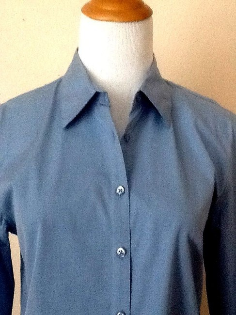 Casual Corner Button Down Shirt Sky Blue