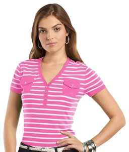 Chaps T Shirt Pink