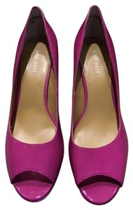 Nine West High Heel Peep Toe Open Toe Pink Pumps