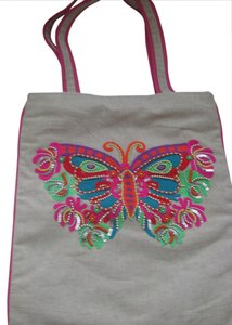 Pier 1 Imports Sequin and Embroidered Butterfly Shoulder Bag