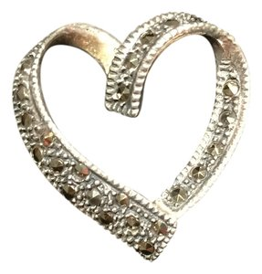 Marcasite Sterling Silver Heart Pendant