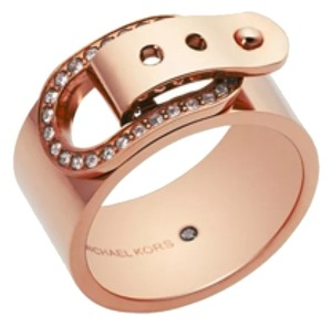 Michael Kors Michael Kors Crystal Buckle Ring Size 8