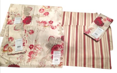 Waverly floral stripe miscellaneous waverly accessories tradesy - Garden in small space collection ...
