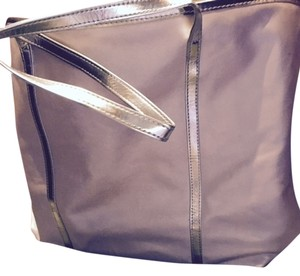 Carryall Makeup Shopping Tote in Gold