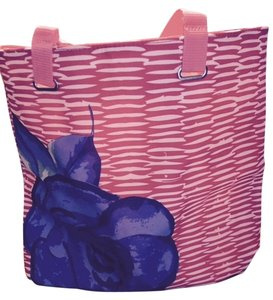 Makeup Lancome Weekend Tote in Stripe with Blue Flower