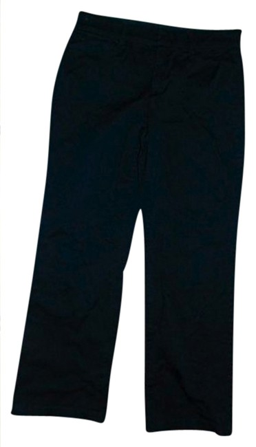 JM Collection P640 Size 10 Low Rise Straight Pants BLACK