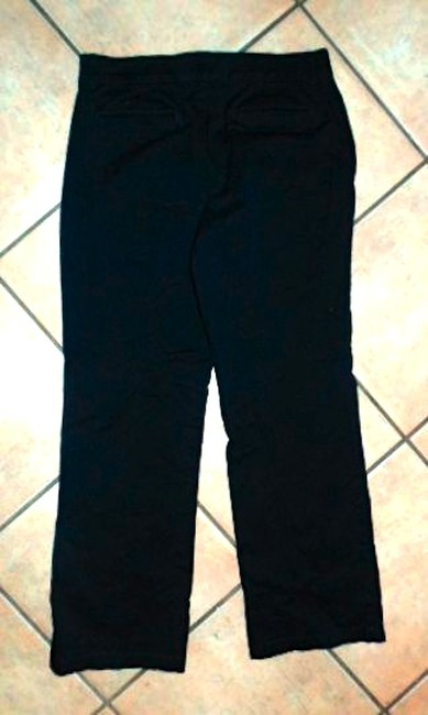 JM Collection P640 Dress Slacks Size Leg Low Rise Straight Pants BLACK
