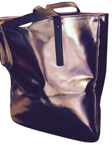 Lord & Taylor Makeup Clothes Shopping Tote in Gold
