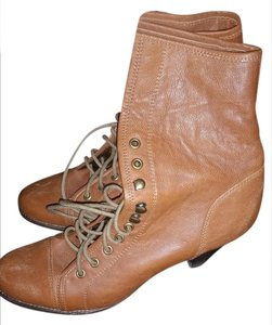 Jeffrey Campbell Vintage Distressed Leather Tan Boots