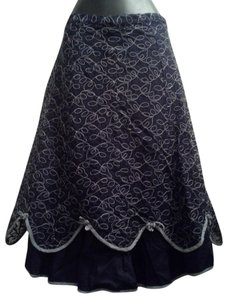 Anthropologie Snak Scalloped Lace Skirt Blue