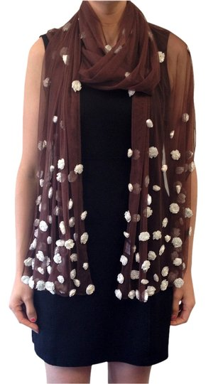Preload https://item1.tradesy.com/images/cocoa-brown-and-powder-blue-shawl-with-roses-scarfwrap-1010575-0-0.jpg?width=440&height=440