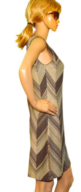 Missoni short dress Beige / Black / Gold Rayo on Tradesy