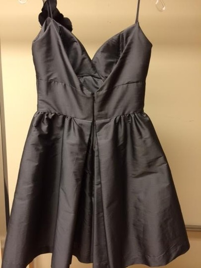 Jim Hjelm Occasions Gunmetal Casual Bridesmaid/Mob Dress Size 4 (S)