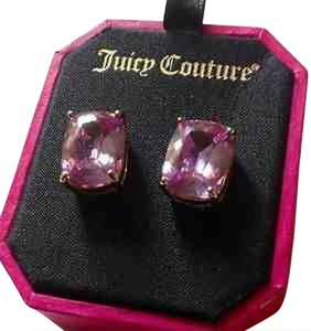 Juicy Couture JUICY COUTURE WOMEN'S CUBIC ZIRCONIA LAVENDER EMERALD CUT STUD EARRINGS