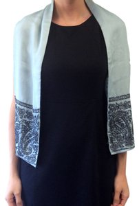 Megan Park MEGAN PARK PEWTER BLUE & CHARCOAL BEADED SCARF