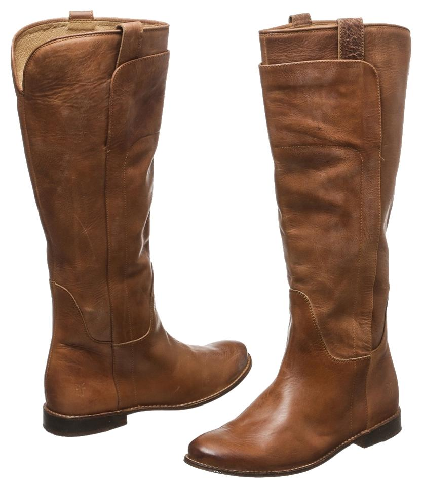Frye Distressed Tan Distressed Frye Leather Riding 8) Boots/Booties be9149
