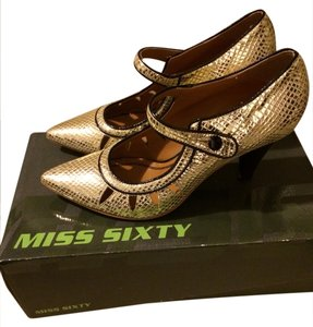 Miss Sixty Gold Pumps
