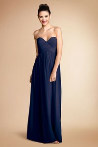 Donna Morgan Navy Chiffon Laura Formal Bridesmaid/Mob Dress Size 4 (S)