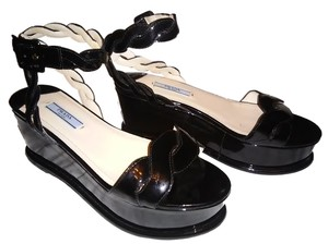 Prada Sandals Platform Black Platforms