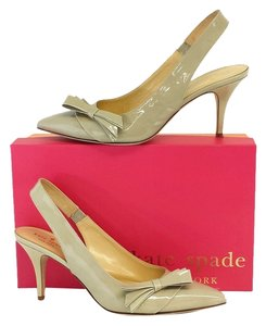 Kate Spade Nude Patent Leather Slingbacks Sandals