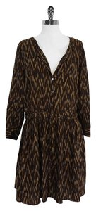 Elizabeth and James short dress Brown Print Silk on Tradesy