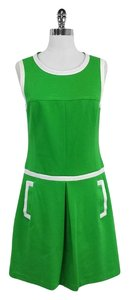 Trina Turk short dress Lime Green White Sleeveless on Tradesy