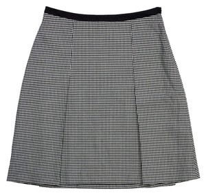 Jil Sander Black White Houndstooth Skirt