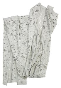 St. John Grey Metallic Knit Scarf
