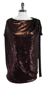 Robert Rodriguez Bronze Black Sequin Top
