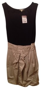 Be Bop short dress Black/Beige on Tradesy