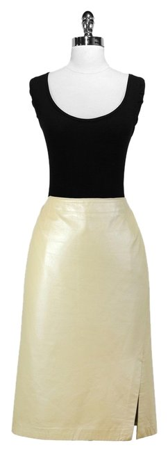 Danier Leather Pencil Skirt Pale Gold