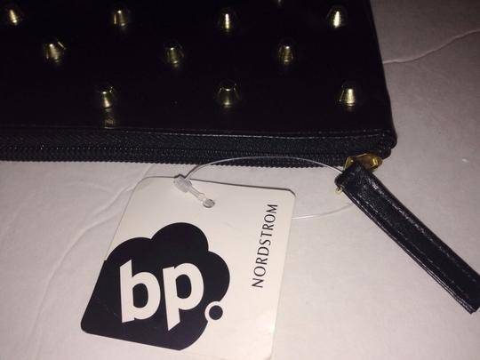 BP. Clothing Nordstrom Gold Studded Black Clutch