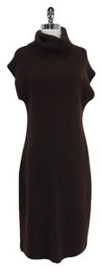 Ralph Lauren Brown Cableknit Cashmere Sweater Sweater Dress