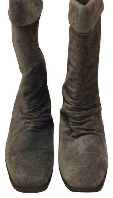 Item - Grey Boots/Booties Size US 10 Wide (C, D)