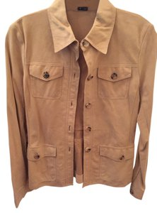 Theory Colored Suede Soft Suede Sand Leather Jacket