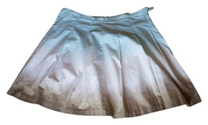 Daisy Fuentes Blue Knee Length Skirt blue, white, brown