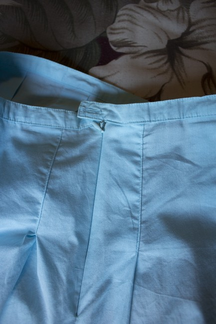 Daisy Fuentes Knee Length Skirt blue, white, brown