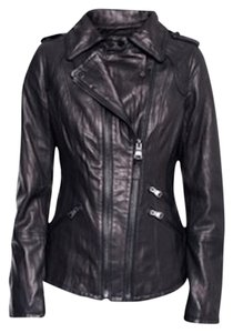 Mackage New Leather Double Zip Black Jacket