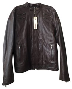 Diesel Mens Leather Motorcycle Motorcycle Jacket