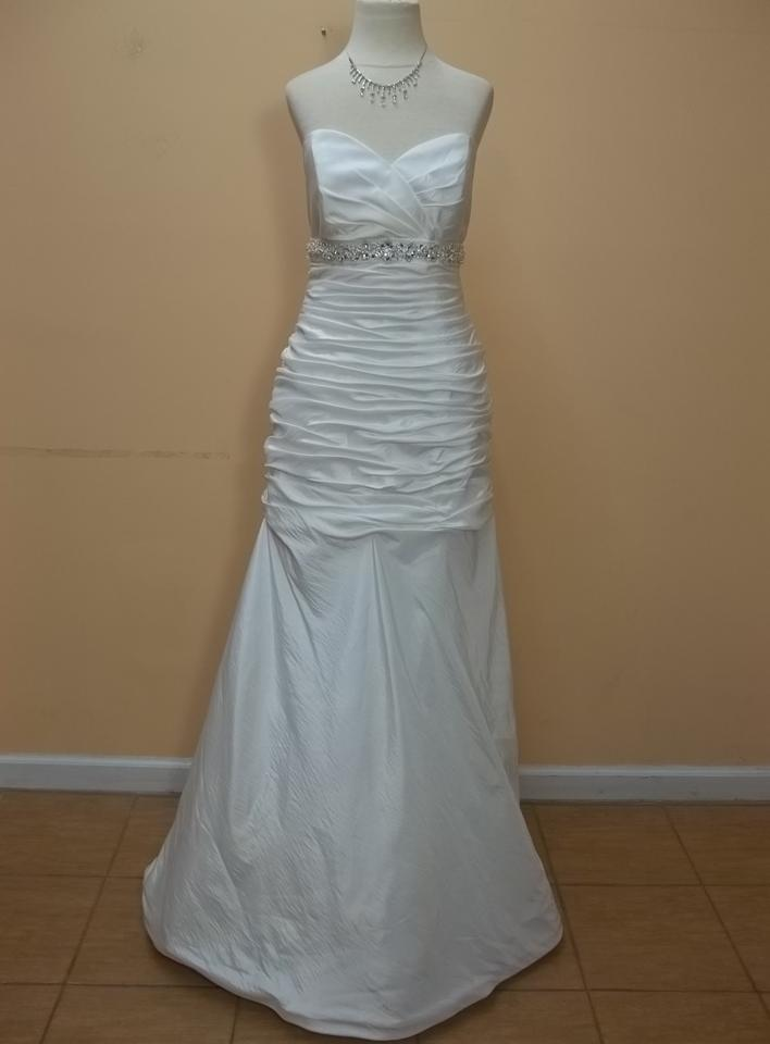 Mori lee ivory silver taffeta 6725 formal wedding dress for Mori lee taffeta wedding dress