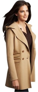 Mackage Wool Trench Leather Trench Coat