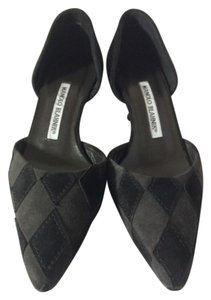 Manolo Blahnik Black/Grey Pumps