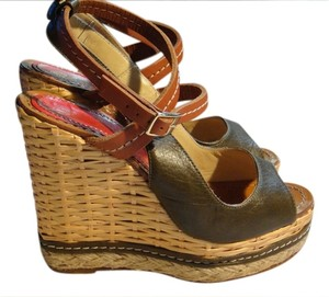 Paloma Barceló Espadrille Sandal Wedge Green Wedges