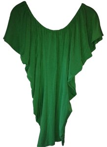 Tart Collections Flutter Sleeves Short Sleeve Top Green