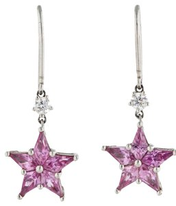 Tiffany & Co. Tiffany & Co. Pink Sapphire Sapphire Star Earrings