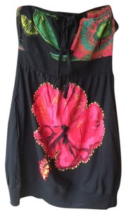 Desigual short dress red, black, green, yellow and orange. on Tradesy
