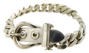 Hermès Authentic Hermes Sterling Silver Buckle Clasp Bracelet